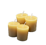 100% Beeswax Votive Candles-4 Pack