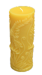 Fern Motif Beeswax Pillar Candle