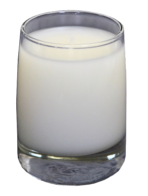 Scented candles in a beautiful glass that you can use again!