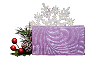 Sugar Plum Glycerin Soap;A fresh sweetened plum sprinkled with orange zest, cloudberry, vanilla and sugared musk.